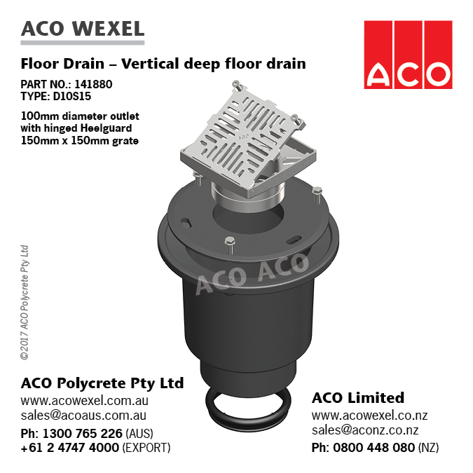 Bucket Traps Aco Wexel Cast Floor And Roof Drains